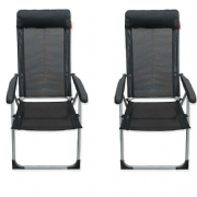 Crusader Black Lollipop camping Chair (Twin Pack)